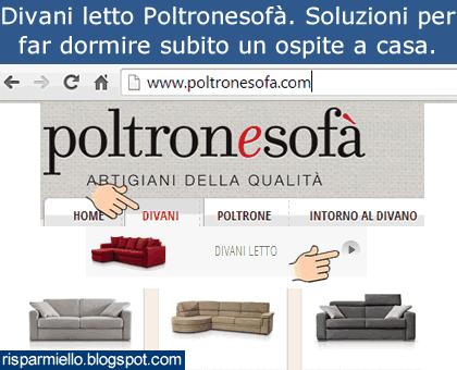 Risparmiello poltronesof divani letto prezzi e promozioni for Poltronesofa divani letto prezzi
