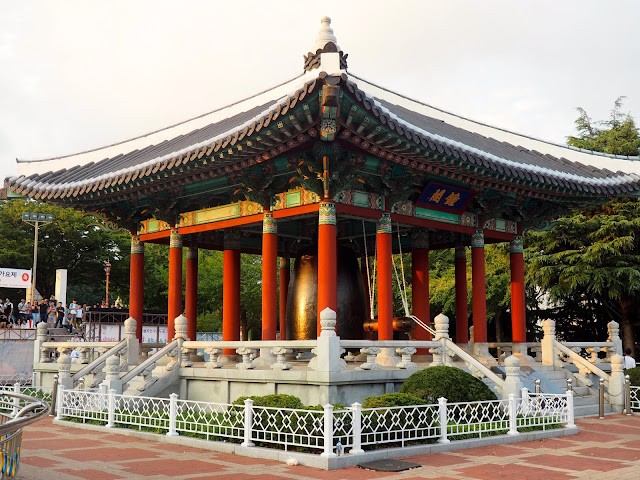 Citizen's bell pavilion in Yongdusan Park, Nampo-dong, Busan, South Korea