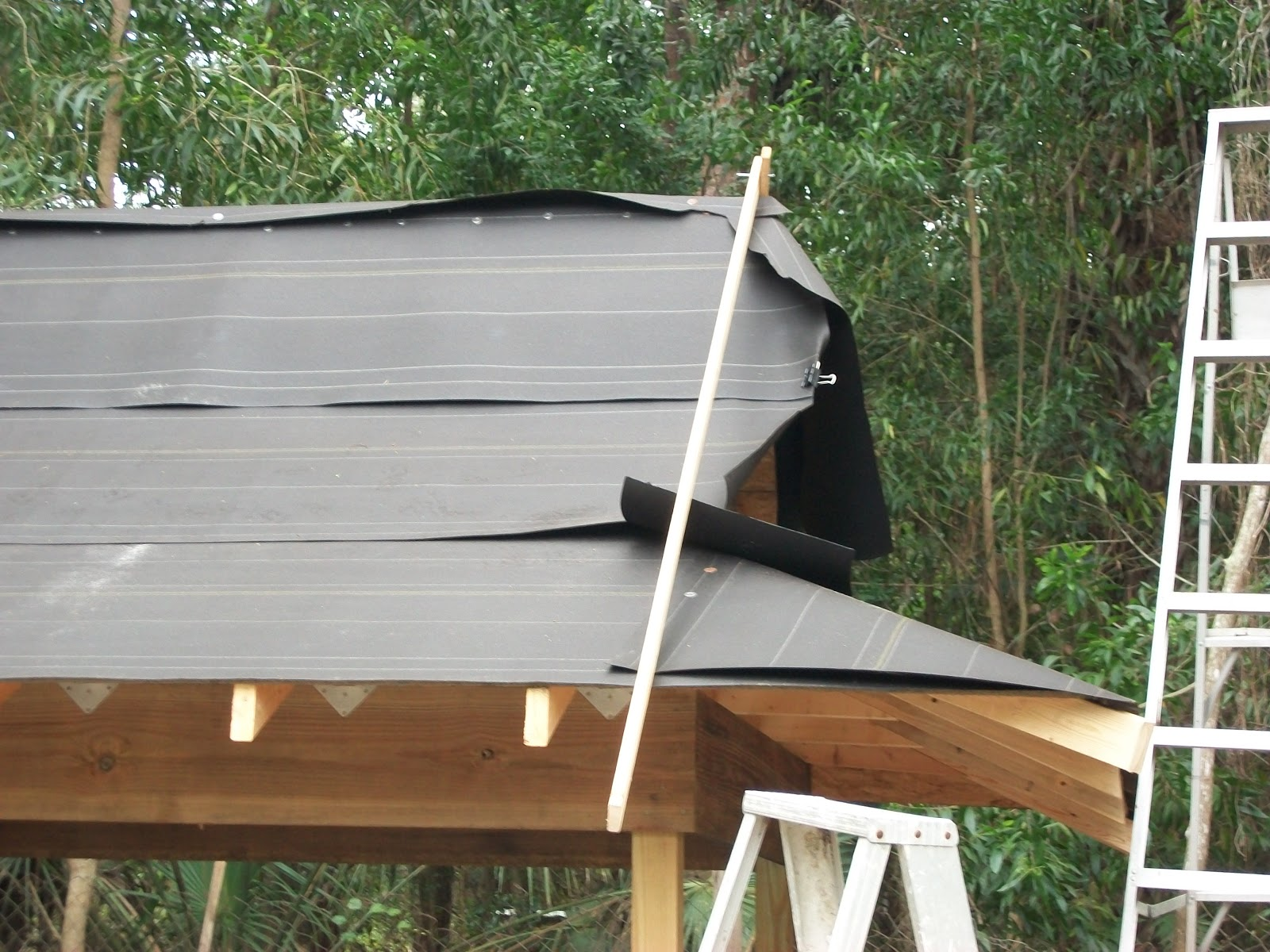 Project Zaid Roof With Tar Paper