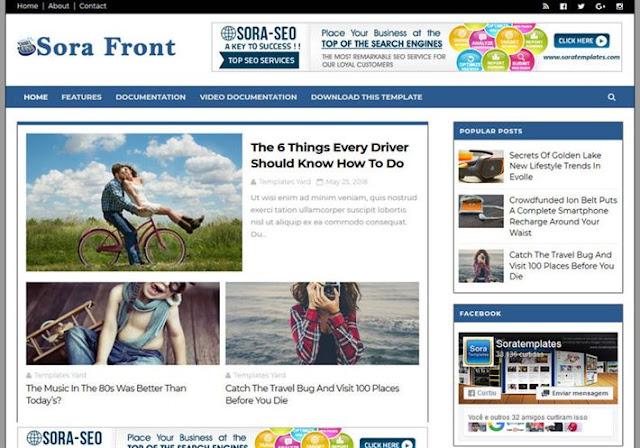 Sora Front Blogger Theme