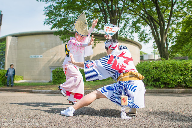 紅連の阿波踊り、スロー踊り、飯村君&可菜さんの写真