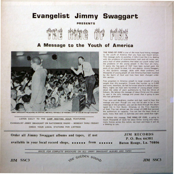 Music for Maniacs: Evangelist Jimmy Swaggart