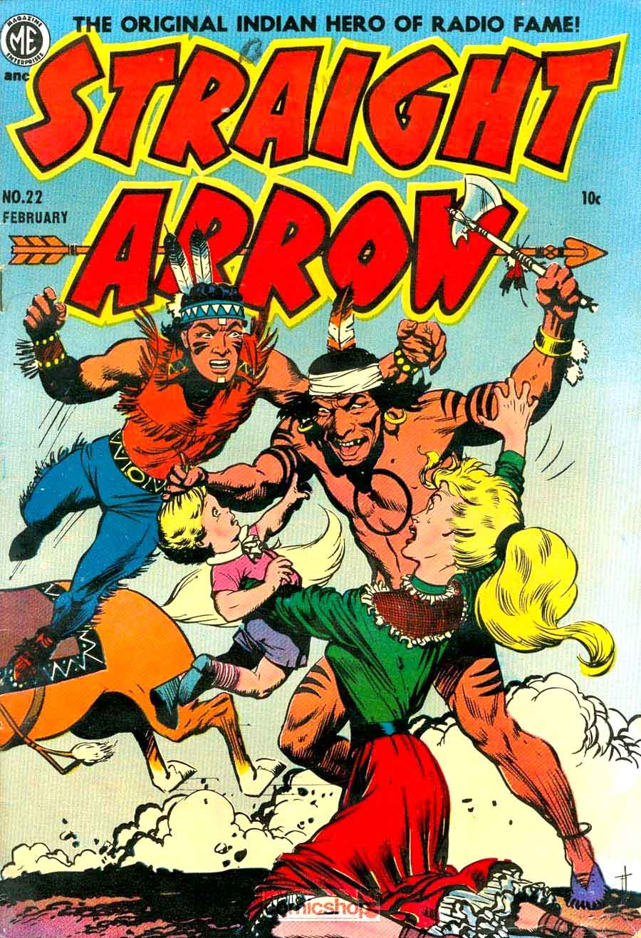 Straight Arrow v1 #22 - Frank Frazetta golden age western comic book cover art