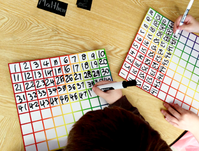 dry erase 120's chart for math centers