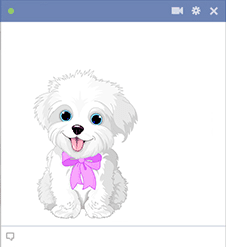 Panting puppy icon