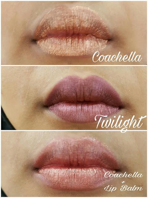 Dida Cosmetics Coachella Twilight Lip Creme Lip Swatches