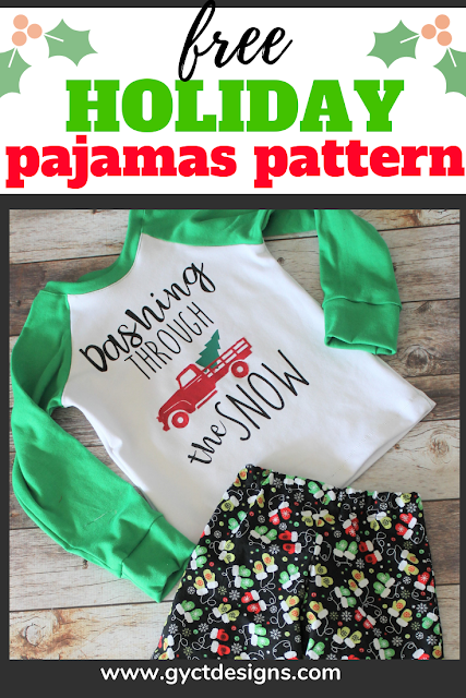 Sew up a quick pair of pajamas with this free kids pajama sewing pattern and raglan tshirt