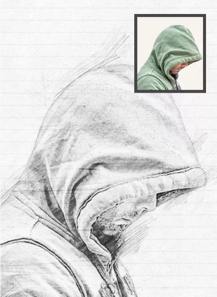 Pencil Sketch Photoshop Action Template Free Download