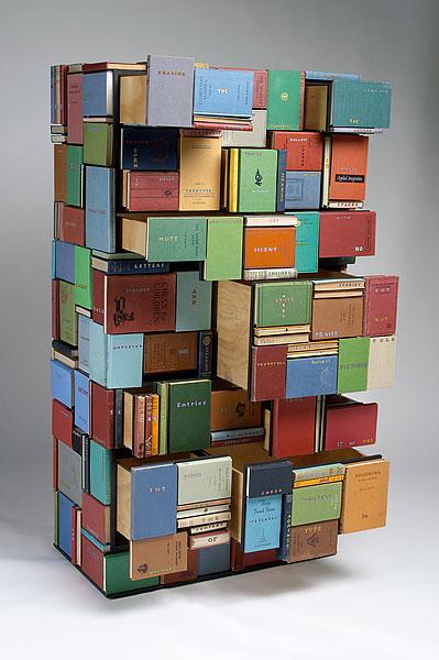 Reciclando libros rincon del bibliotecario - Muebles para libros ...