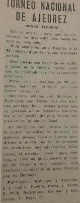 I Torneo Nacional de Ajedrez de Lérida 1948, recorte La Mañana, 11 de mayo de 1948