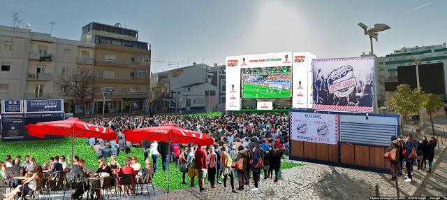 Mundial da Rússia transforma Praça da República de Portimão no «Futebol Park Alameda»