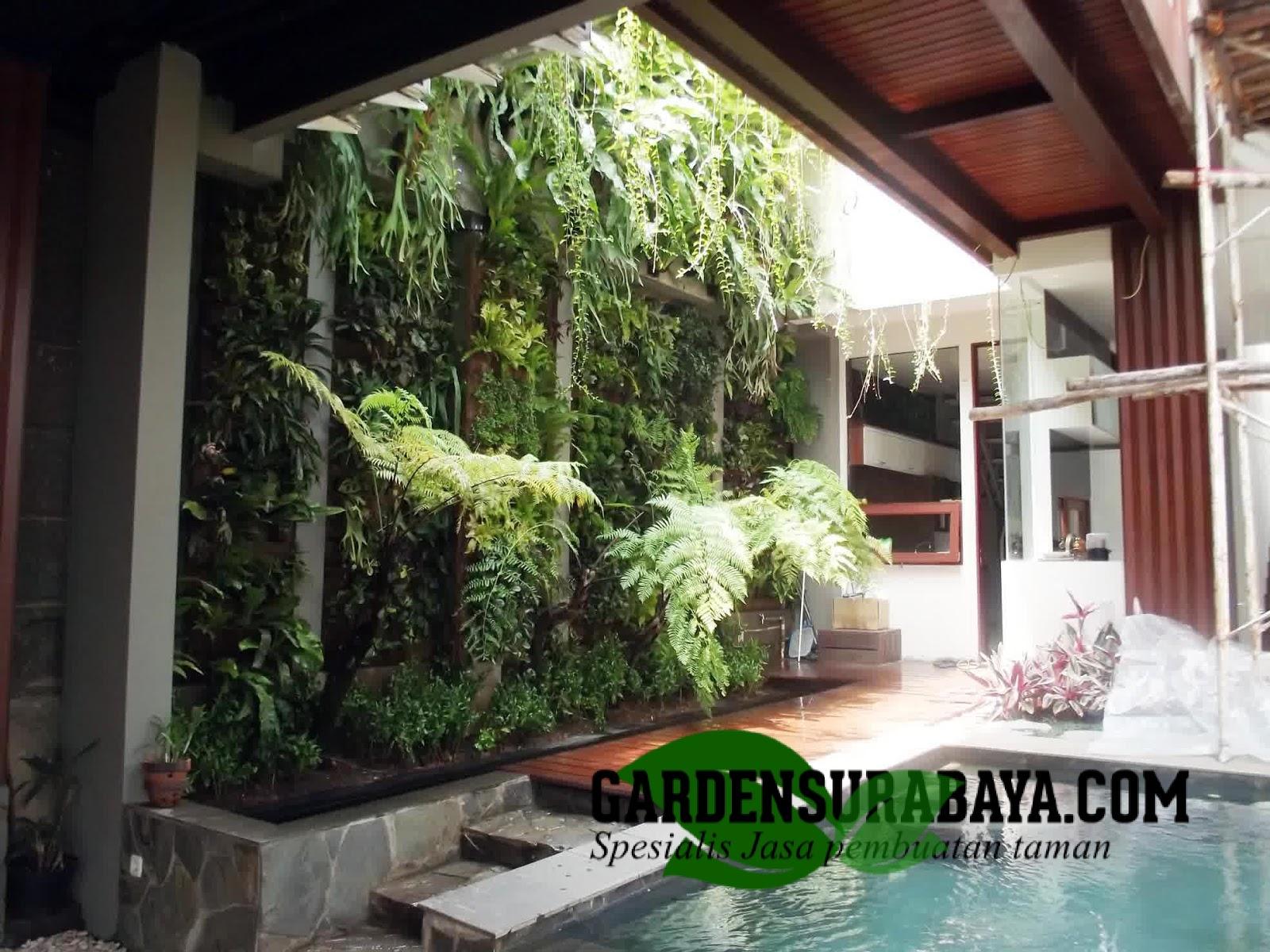 Contoh Gambar Desain Konsep Taman Vertikal Surabaya Garden Surabaya