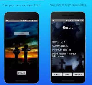 Aplikasi Android Death Calculator Free