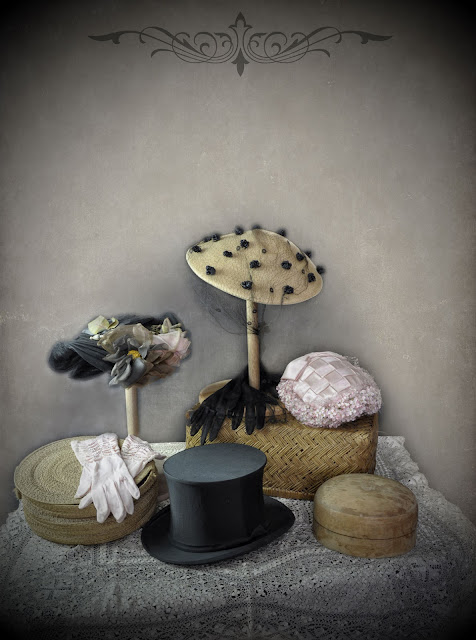 Vintage hat display