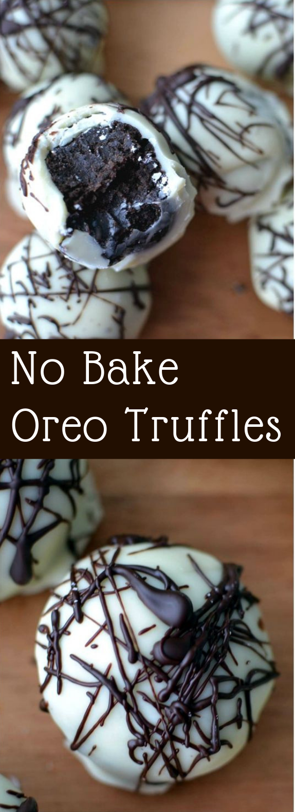 These no bake Oreo Truffles have a sweet outer chocolate shell that surrounds a decadent, chocolate Oreo filling- and only 4 ingredients needed! #nobake #oreo #truffles #chocolate #desserts #oreotruffles