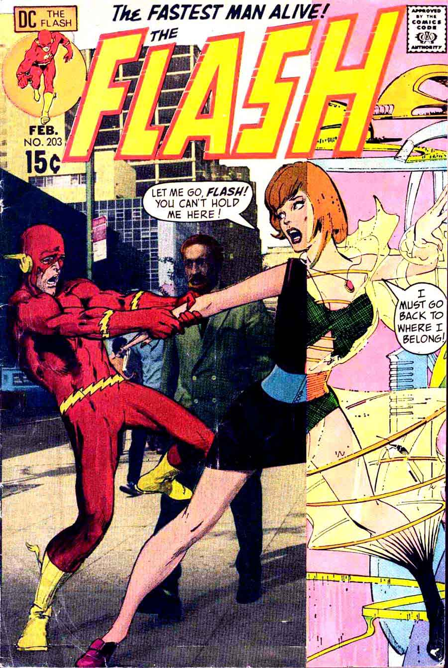 Flash #203 silver age dc cover by Neal Adams