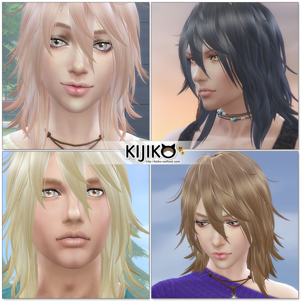 Sims 4 Hairstyles: My Sims 4 Blog: Shaggy Hair For Males & Females By Kijiko