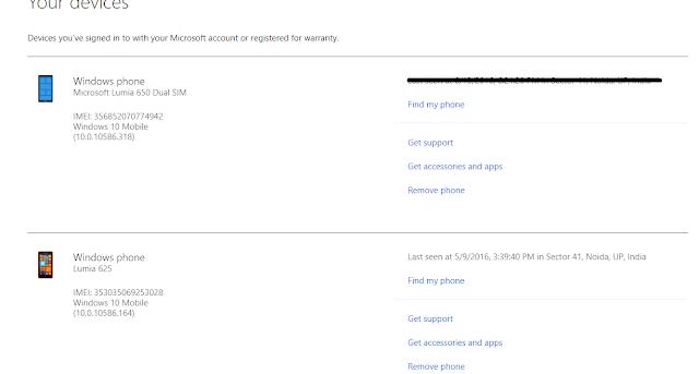 Locate Windows 10 Mobile