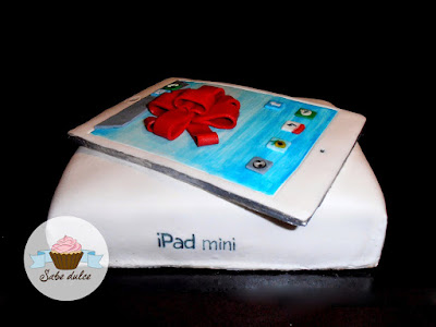 Tarta fondant iPAd mini