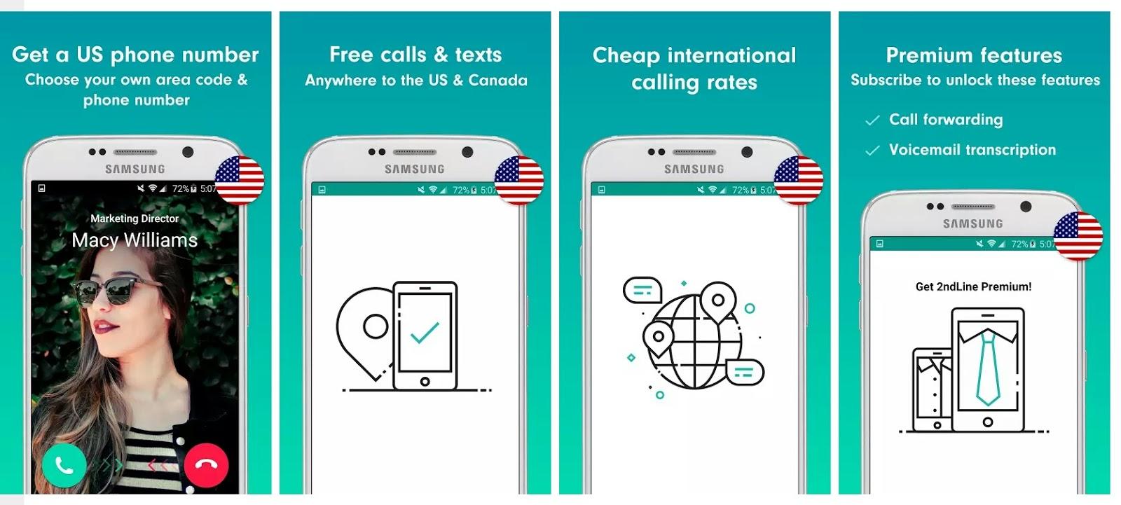 شرح طريقة عمل وتحميل برنامج 2ndline للحصول على رقم امريكي او كندي