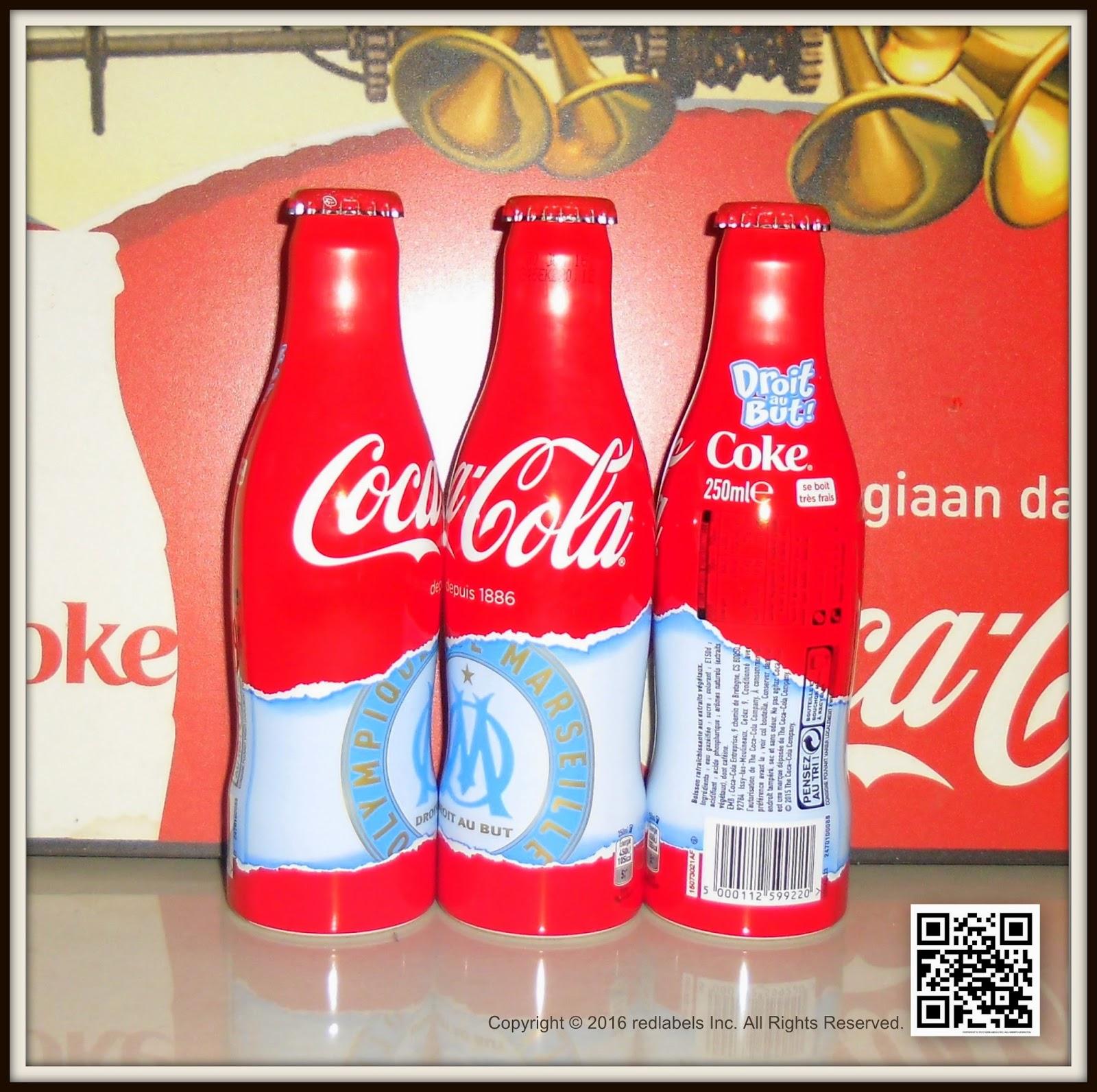 aluminum bottle collector club coca cola olympique de marseille aluminum bottle 2016 france. Black Bedroom Furniture Sets. Home Design Ideas