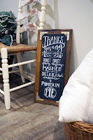dawntoussaint.com, chalkboard, message board, DIY project