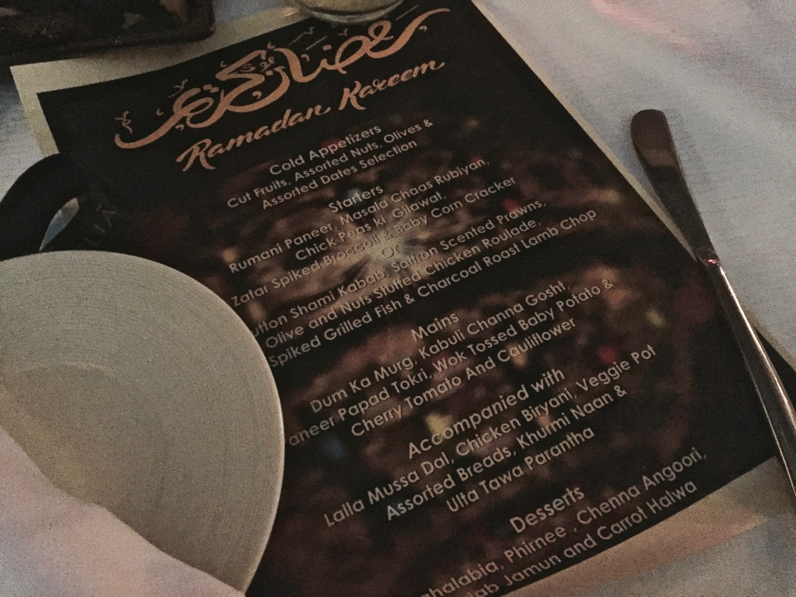 Ramadan 2016 must visit restaurants for iftar the thrift trip an invitation with a few other zomato influencers the room was a bit dark hence i wasnt able to take good photos but i remembered the flavours that i stopboris Image collections