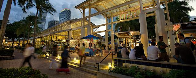 Estabelecimentos no Shopping Bayside Marketplace em Downtown Miami