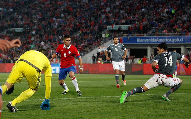 Chile y Paraguay en partido amistoso, 5 de septiembre de 2015
