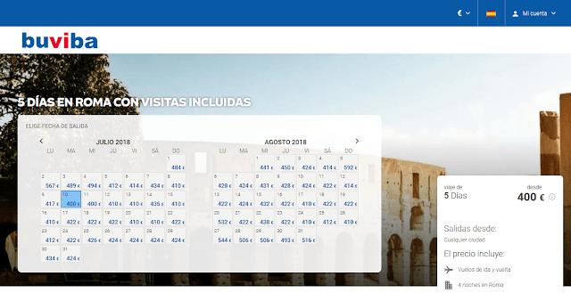 Viaje a Roma todo incluido con buviba