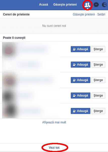 Cereri de prietenie pe Facebook