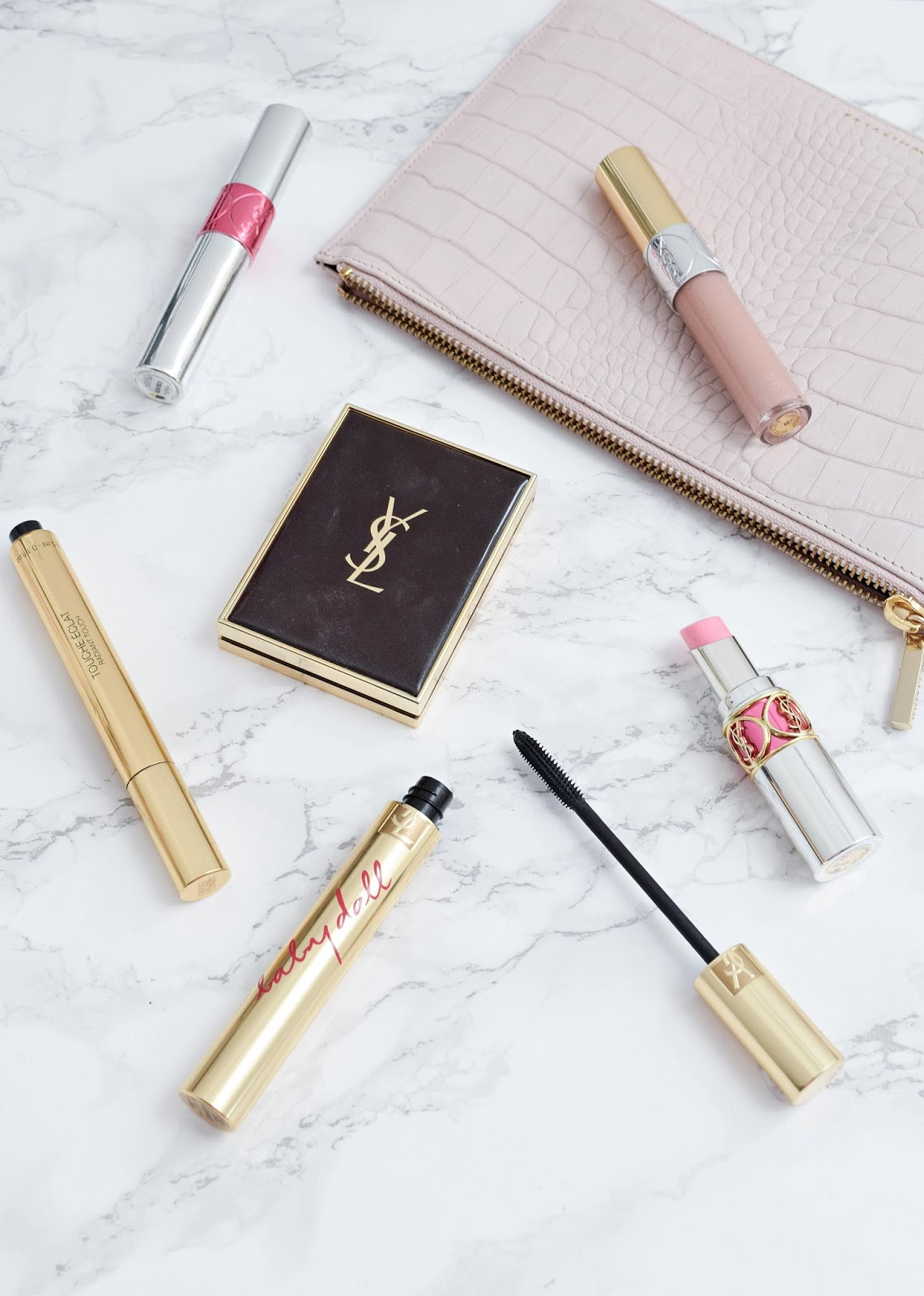 best ysl makeup products, ysl touche eclat, baby doll mascara, ysl bronzer