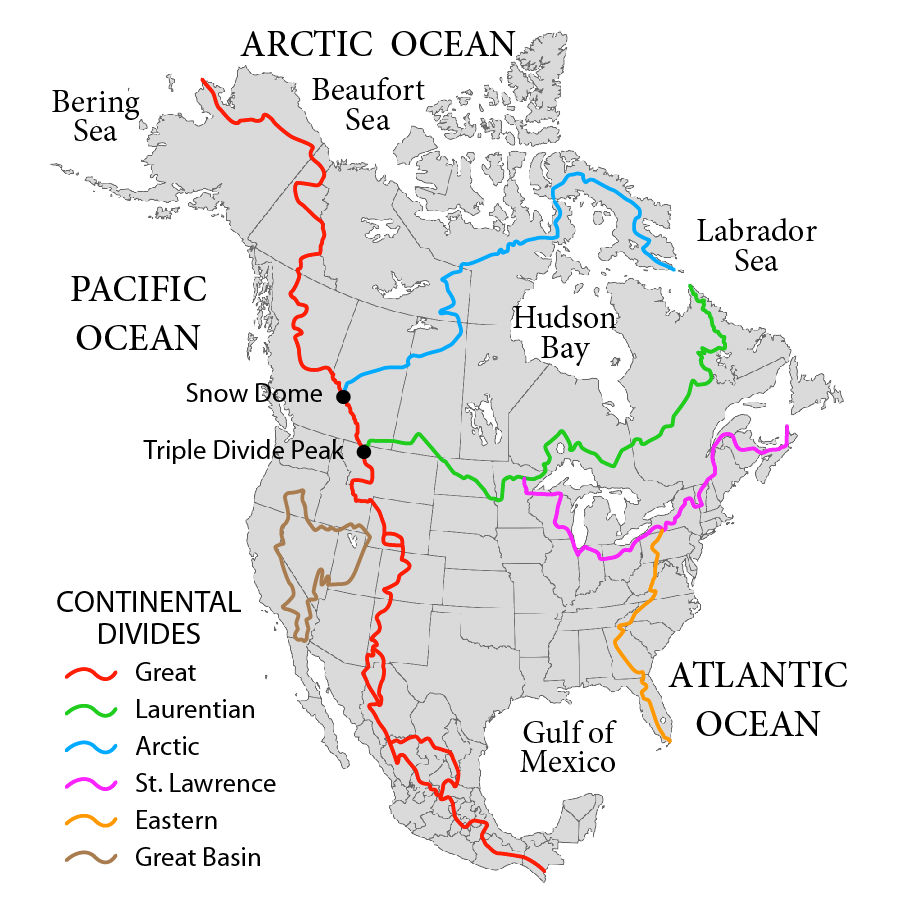 Continental Divide Map earthscienceguy: Minnesota's Continental Divides Continental Divide Map