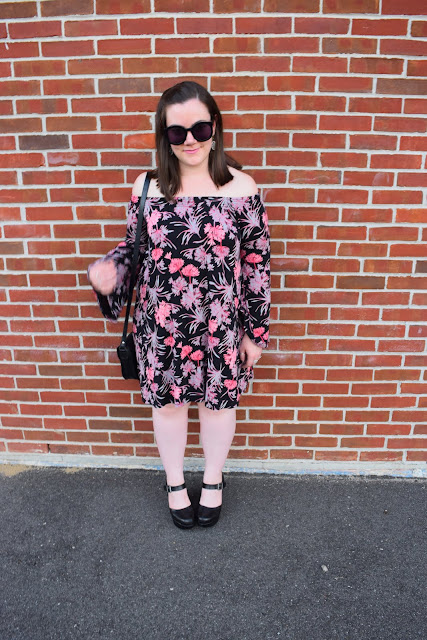 Sequins and Skulls: Bell Sleeves & Bare Shoulders