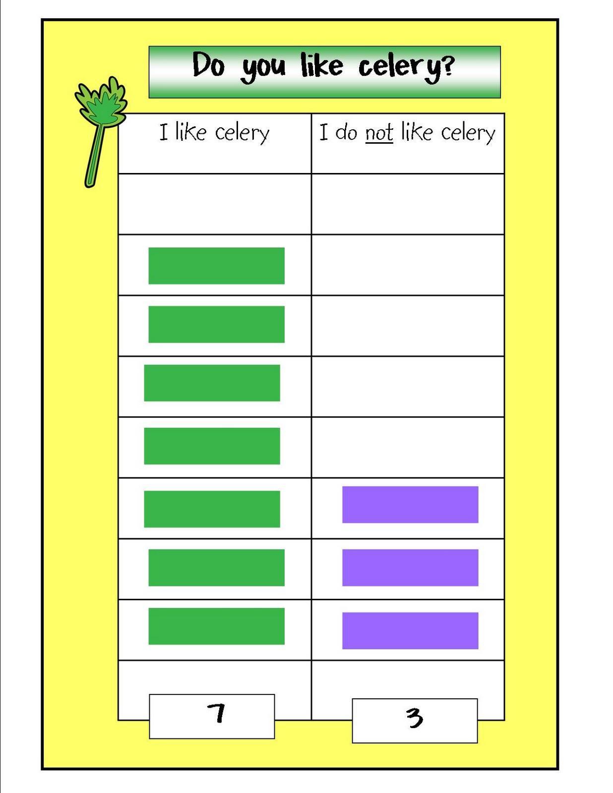 Kindergarten Crayons Sensational Celery
