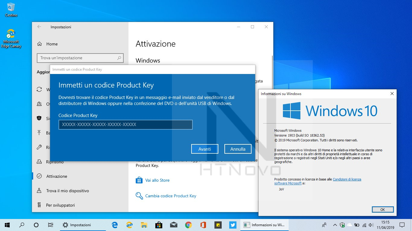 Codici-Product-Key-generici-Windows-10-versione-1903