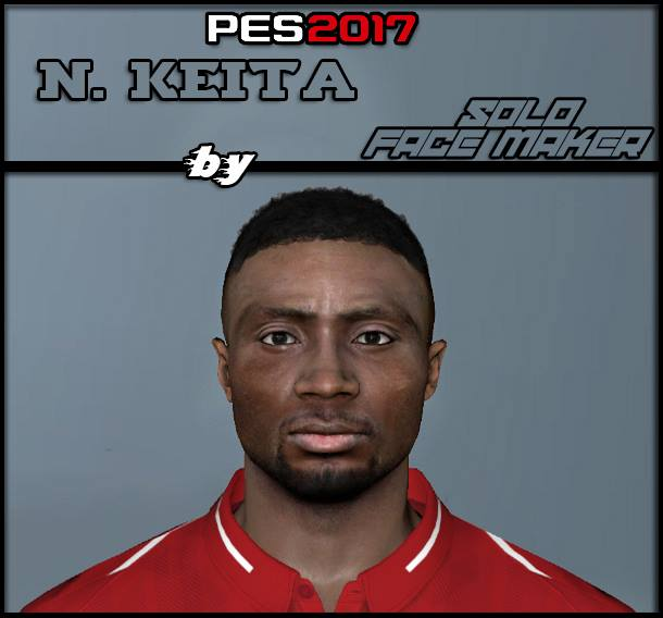 PES 2017 N. Keita face by Solo Gamer Face Maker & Pes Editor
