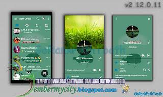 Tema BBM Terbaru - BBM MOD GoRankPathTooth v2.11.0.11