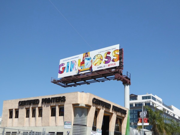 Girlboss TV billboard