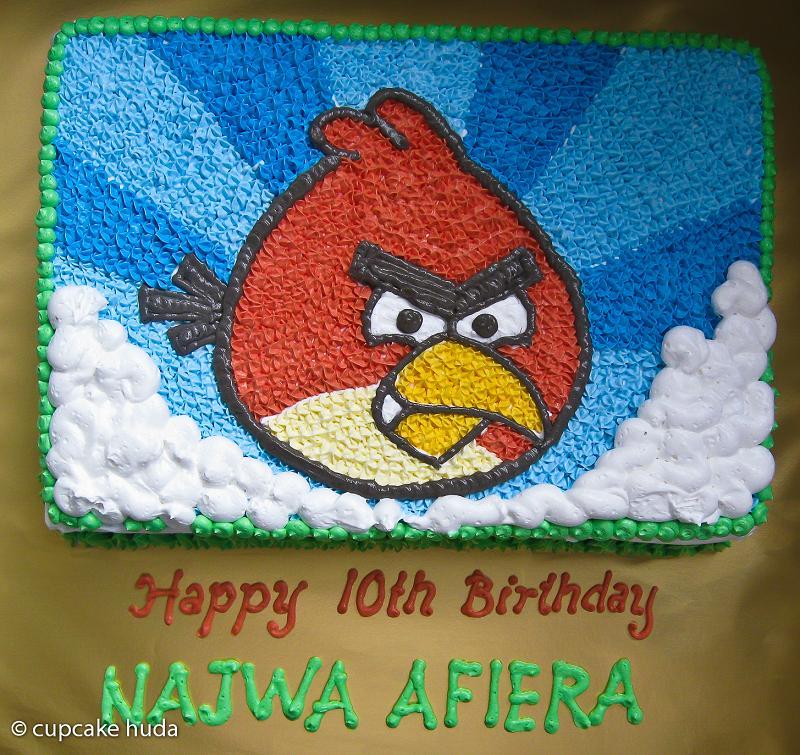 Angry Bird : Happy 10th Birthday Najwa - Afira