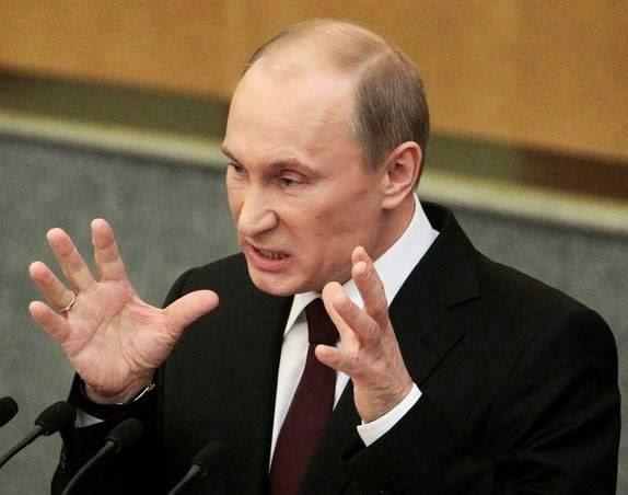 Vladimir Putin supărat