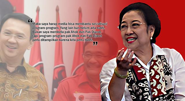 Ngaku Tak Bela Ahok, Megawati Ingatkan Media Tak Tampilkan Isu SARA