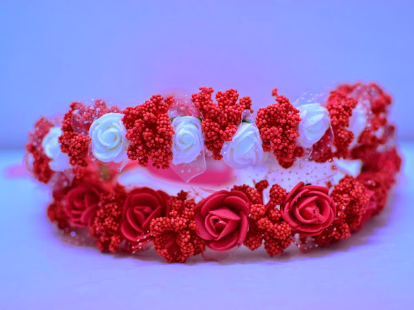 Real DIY : Red flower crown