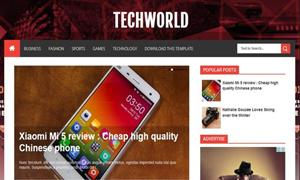TechWorld Free Responsive Blogger Template