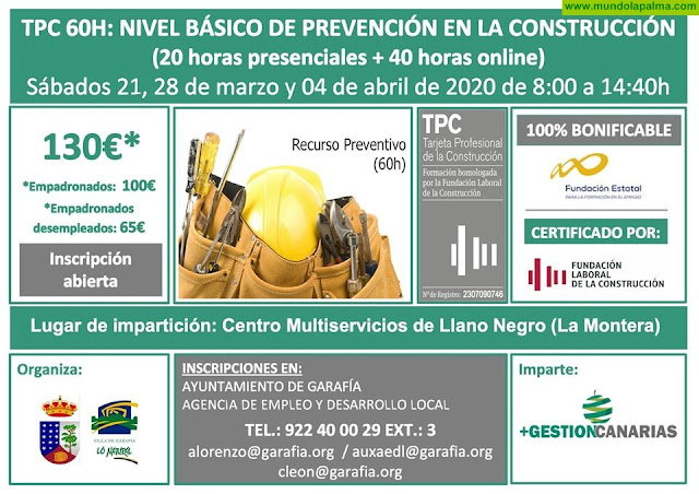 TPC 60 h: Nivel básico de prevención en la construcción en Grarafía
