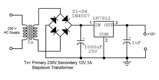 12v Fixed Voltage Power Supply