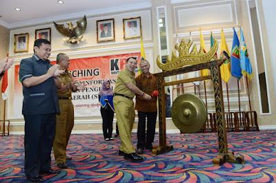 Gubernur Lampung M.Ridho Ficardo Bersama Ketua KPK RI Luncurkan Aplikasi Sistem Informasi Perencanaan dan Pengelolaan Keuangan Daerah