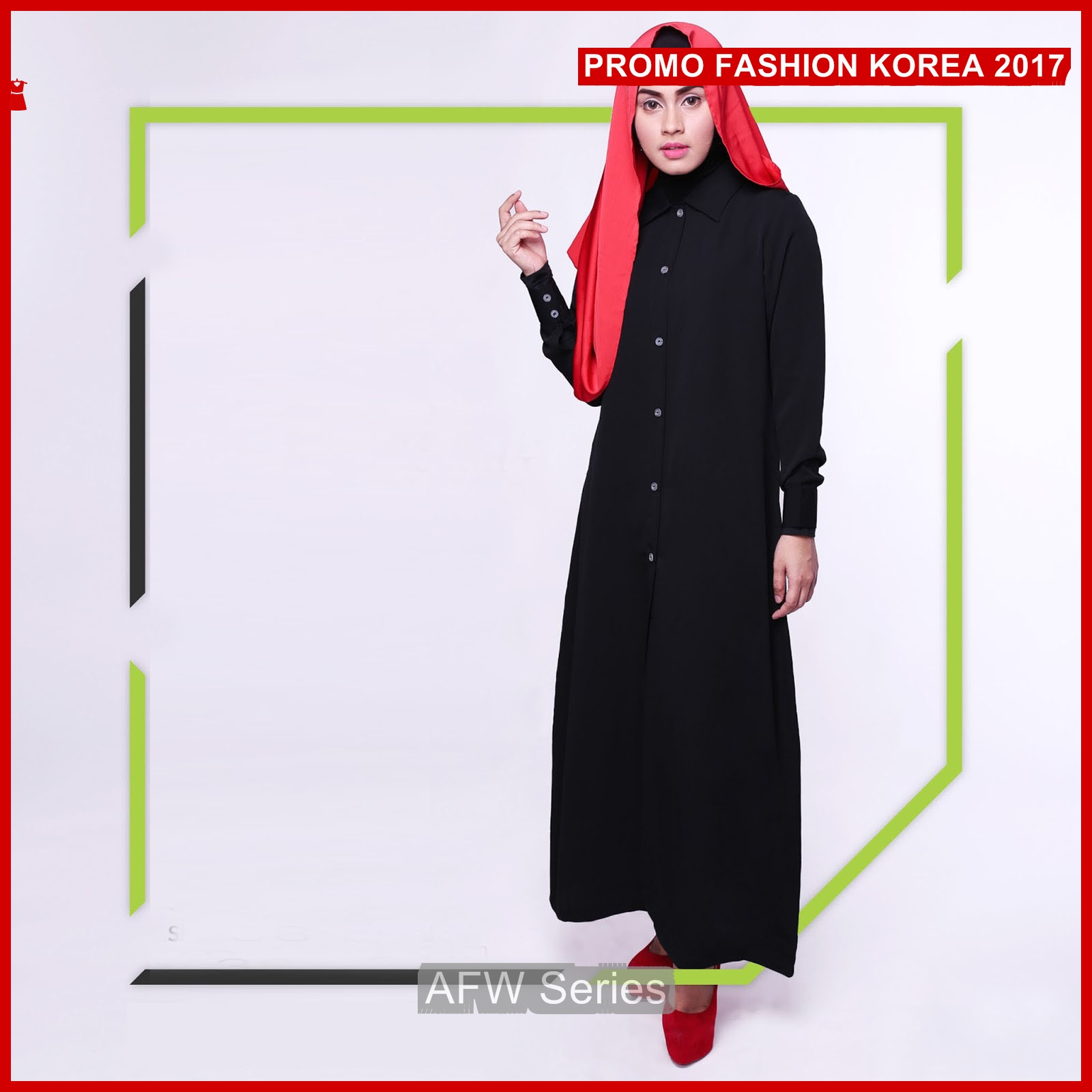 BAMFGW141 Long Dress Hijab Wanita PROMO BMG