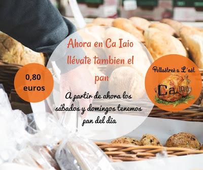 A partir de ahora en Ca Iaio llévate también el pan