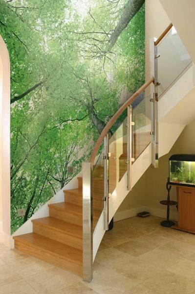 Staircase Mural Wall Art.